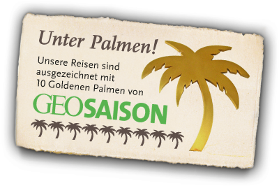 Geo Saison Goldene Palmen für travel-to-nature